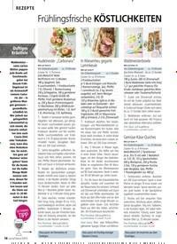 Titelbild der Ausgabe 5/2019 von REZEPTE: Frühlingsfrische KÖSTLICHKEITEN. Zeitschriften als Abo oder epaper bei United Kiosk online kaufen.