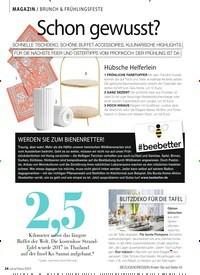 Titelbild der Ausgabe 5/2019 von MAGAZIN / BRUNCH & FRÜHLINGSFESTE: schon gewusst?. Zeitschriften als Abo oder epaper bei United Kiosk online kaufen.