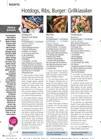 Titelbild der Ausgabe 6/2019 von REZEPTE: Hotdogs, Ribs, Burger: Grillklassiker made in AMERICA. Zeitschriften als Abo oder epaper bei United Kiosk online kaufen.