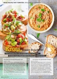 Titelbild der Ausgabe 7/2019 von NEUE VIELFALT MIT TOMATEN: BRUSCHETTE-TOPPINGS: Kross, krosser, Bruschette!. Zeitschriften als Abo oder epaper bei United Kiosk online kaufen.