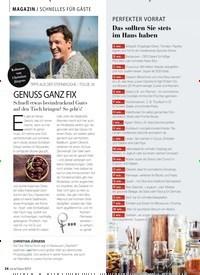 Titelbild der Ausgabe 9/2019 von MAGAZIN / SCHNELLES FÜR GÄSTE: GENUSS GANZ FIX. Zeitschriften als Abo oder epaper bei United Kiosk online kaufen.