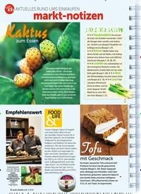 Titelbild der Ausgabe 3/2019 von AKTUELLES RUND UMS EINKAUFEN: markt-notizen. Zeitschriften als Abo oder epaper bei United Kiosk online kaufen.