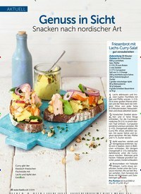 Titelbild der Ausgabe 3/2019 von AKTUELL: Genuss in Sicht Snacken nach nordischer Art. Zeitschriften als Abo oder epaper bei United Kiosk online kaufen.