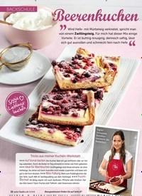 Titelbild der Ausgabe 6/2019 von BACKSCHULE: Beerenkuchen mit Zwillingsteig. Zeitschriften als Abo oder epaper bei United Kiosk online kaufen.