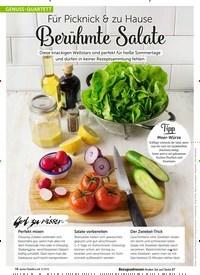 Titelbild der Ausgabe 8/2019 von GENUSS-QUARTETT: Für Picknick & zu Hause: Berühmte Salate. Zeitschriften als Abo oder epaper bei United Kiosk online kaufen.