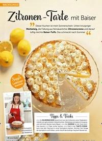 Titelbild der Ausgabe 8/2019 von BACKSCHULE: Zitronen-Tarte mit Baiser. Zeitschriften als Abo oder epaper bei United Kiosk online kaufen.