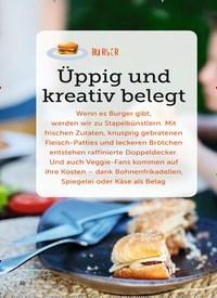 Titelbild der Ausgabe 11/2019 von BURGER: Üppig und kreativ belegt. Zeitschriften als Abo oder epaper bei United Kiosk online kaufen.