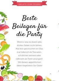 Titelbild der Ausgabe 13/2019 von SALATE ZUM FEIERN: Beste Beilagen für die Party. Zeitschriften als Abo oder epaper bei United Kiosk online kaufen.