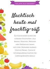 Titelbild der Ausgabe 13/2019 von SALATE ALS DESSERT: Nachtisch heute mal fruchtig-süß. Zeitschriften als Abo oder epaper bei United Kiosk online kaufen.