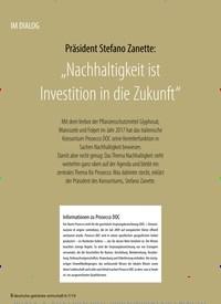 """Titelbild der Ausgabe 7/2019 von IM DIALOG: Präsident Stefano Zanette: """"Nachhaltigkeit ist Investition in die Zukunft"""". Zeitschriften als Abo oder epaper bei United Kiosk online kaufen."""