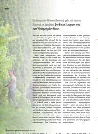Titelbild der Ausgabe 7/2019 von Gastronomie-Weinwettbewerb geht mit neuem Konzept an den Start: Der Beste Schoppen wird zum Weingastgeber Mosel. Zeitschriften als Abo oder epaper bei United Kiosk online kaufen.