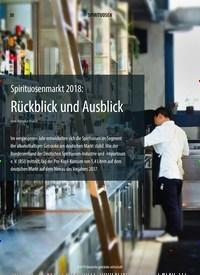 Titelbild der Ausgabe 9/2019 von Spirituosenmarkt 2018: Rückblick und Ausblick. Zeitschriften als Abo oder epaper bei United Kiosk online kaufen.