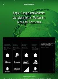 Titelbild der Ausgabe 10/2019 von Apple, Google, und Android: die relevantesten Marken im Leben der Deutschen. Zeitschriften als Abo oder epaper bei United Kiosk online kaufen.