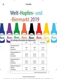 Titelbild der Ausgabe 10/2019 von Welt-Hopfen- und -Biermarkt 2019. Zeitschriften als Abo oder epaper bei United Kiosk online kaufen.