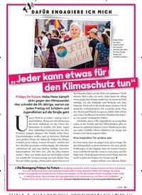 """Titelbild der Ausgabe 11/2019 von DAFÜR ENGAGIERE ICH MICH: """" Jeder kann etwas für den Klimaschutz tun"""". Zeitschriften als Abo oder epaper bei United Kiosk online kaufen."""