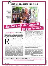 """Titelbild der Ausgabe 1/2020 von DAFÜR ENGAGIERE ICH MICH: """" S chluss mit der Gewalt gegen Frauen"""". Zeitschriften als Abo oder epaper bei United Kiosk online kaufen."""