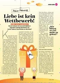 Titelbild der Ausgabe 1/2020 von Meine Meinung: Liebe ist kein Wettbewerb!. Zeitschriften als Abo oder epaper bei United Kiosk online kaufen.