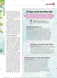 Titelbild der Ausgabe 6/2020 von 10 Tipps, damit das Glück hält. Zeitschriften als Abo oder epaper bei United Kiosk online kaufen.