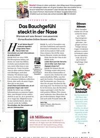Titelbild der Ausgabe 2/2021 von INTERVIEW: Das Bauchgefühl steckt in der Nase. Zeitschriften als Abo oder epaper bei United Kiosk online kaufen.