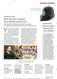 Titelbild der Ausgabe 9/2019 von FORUM & CHRONIK: ZEITZEICHEN: 27. 9. 1589: Bier brauen gegen den Staatsbankrott. Zeitschriften als Abo oder epaper bei United Kiosk online kaufen.