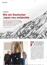 Titelbild der Ausgabe 11/2019 von BLICKPUNKT: Wie ein Deutscher Japan neu entdeckte. Zeitschriften als Abo oder epaper bei United Kiosk online kaufen.
