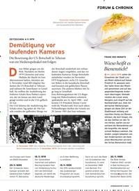 Titelbild der Ausgabe 11/2019 von FORUM & CHRONIK: Demütigung vor laufenden Kameras. Zeitschriften als Abo oder epaper bei United Kiosk online kaufen.