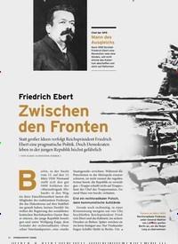 Titelbild der Ausgabe 1/2020 von 1. KAPITEL UMKÄMPFTER NEUANFANG: Friedrich Ebert: Zwischen den Fronten. Zeitschriften als Abo oder epaper bei United Kiosk online kaufen.