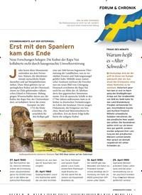 Titelbild der Ausgabe 4/2020 von FORUM & CHRONIK: Erst mit den Spaniern kam das Ende. Zeitschriften als Abo oder epaper bei United Kiosk online kaufen.