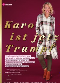 Titelbild der Ausgabe 12/2019 von Karo ist jetzt Trumpf. Zeitschriften als Abo oder epaper bei United Kiosk online kaufen.