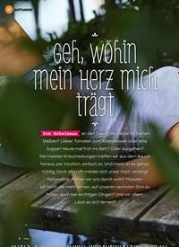 Titelbild der Ausgabe 3/2020 von Geh, wohin mein Herz mich trägt. Zeitschriften als Abo oder epaper bei United Kiosk online kaufen.