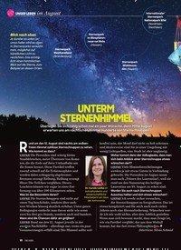 Titelbild der Ausgabe 8/2020 von UNTERM STERNENHIMMEL. Zeitschriften als Abo oder epaper bei United Kiosk online kaufen.