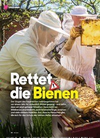 Titelbild der Ausgabe 8/2020 von Rettet die Bienen. Zeitschriften als Abo oder epaper bei United Kiosk online kaufen.