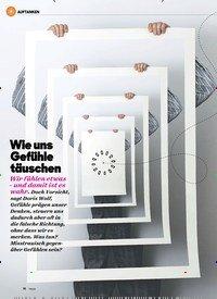 Titelbild der Ausgabe 3/2020 von Wie uns Gefühle täuschen. Zeitschriften als Abo oder epaper bei United Kiosk online kaufen.