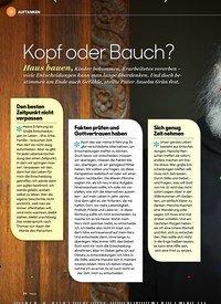 Titelbild der Ausgabe 3/2020 von Kopf oder Bauch?. Zeitschriften als Abo oder epaper bei United Kiosk online kaufen.