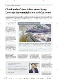 Titelbild der Ausgabe 8/2019 von DSAG-Umfrage zur SAP-Strategie: Cloud in der Öffentlichen Verwaltung: Zwischen Notwendigkeiten und Optionen. Zeitschriften als Abo oder epaper bei United Kiosk online kaufen.