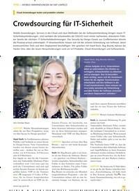 Titelbild der Ausgabe 8/2019 von MOBILE ANWENDUNGEN IM SAP-UMFELD: Crowdsourcing für IT-Sicherheit. Zeitschriften als Abo oder epaper bei United Kiosk online kaufen.