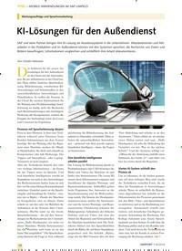 Titelbild der Ausgabe 8/2019 von MOBILE ANWENDUNGEN IM SAP-UMFELD: KI-Lösungen für den Außendienst. Zeitschriften als Abo oder epaper bei United Kiosk online kaufen.