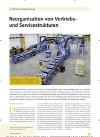 Titelbild der Ausgabe 8/2019 von Reorganisation von Vertriebsund Servicestrukturen. Zeitschriften als Abo oder epaper bei United Kiosk online kaufen.