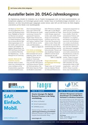 Titelbild der Ausgabe 9/2019 von SAP-Partner treffen DSAG-Mitglieder: Aussteller beim 20. DSAG-Jahreskongress. Zeitschriften als Abo oder epaper bei United Kiosk online kaufen.