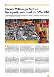 Titelbild der Ausgabe 9/2019 von Finanzielle Prozesse neu gestalten: IBM und Volkswagen Sachsen: Lösungen für emissionsfreie E-Mobilität. Zeitschriften als Abo oder epaper bei United Kiosk online kaufen.