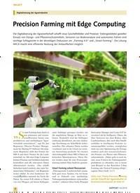 Titelbild der Ausgabe 10/2019 von Digitalisierung der Agrarindustrie: Precision Farming mit Edge Computing. Zeitschriften als Abo oder epaper bei United Kiosk online kaufen.