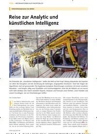 Titelbild der Ausgabe 10/2019 von Unternehmensprozesse neu denken: Reise zur Analytic und künstlichen Intelligenz. Zeitschriften als Abo oder epaper bei United Kiosk online kaufen.