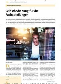 Titelbild der Ausgabe 10/2019 von Self-Service-Business-Intelligence: Selbstbedienung für die Fachabteilungen. Zeitschriften als Abo oder epaper bei United Kiosk online kaufen.