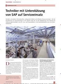 Titelbild der Ausgabe 10/2019 von Kundenservice vor Ort: Techniker mit Unterstützung von SAP auf Serviceeinsatz. Zeitschriften als Abo oder epaper bei United Kiosk online kaufen.