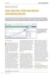 Titelbild der Ausgabe 6/2019 von Dokumente archivieren : SAP-ARCHIV FÜR BELIEBIGE ANWENDUNGEN. Zeitschriften als Abo oder epaper bei United Kiosk online kaufen.