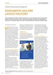 Titelbild der Ausgabe 6/2019 von Customer-Communication-Management : DOKUMENTE AUS DER LAYOUT-FACTORY. Zeitschriften als Abo oder epaper bei United Kiosk online kaufen.