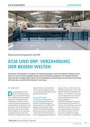 Titelbild der Ausgabe 6/2019 von Dokumentenmanagement und SAP : ECM UND ERP: VERZAHNUNG DER BEIDEN WELTEN. Zeitschriften als Abo oder epaper bei United Kiosk online kaufen.
