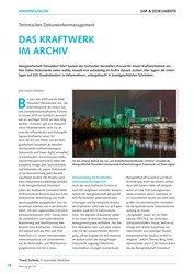Titelbild der Ausgabe 6/2019 von Technisches Dokumentenmanagement : DAS KRAFTWERK IM ARCHIV. Zeitschriften als Abo oder epaper bei United Kiosk online kaufen.