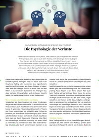 Titelbild der Ausgabe 9/2019 von WARUM GLÜCK IM TRADING EIN SPIEL MIT DEM FEUER IST:-Die Psychologie der Verluste. Zeitschriften als Abo oder epaper bei United Kiosk online kaufen.