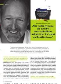 """Titelbild der Ausgabe 11/2019 von INTERVIEW DR. MICHAEL GEKE: """"Wir wollen Systeme, die auch bei unterschiedlicher 'Windstärke' im Markt gut funktionieren."""". Zeitschriften als Abo oder epaper bei United Kiosk online kaufen."""